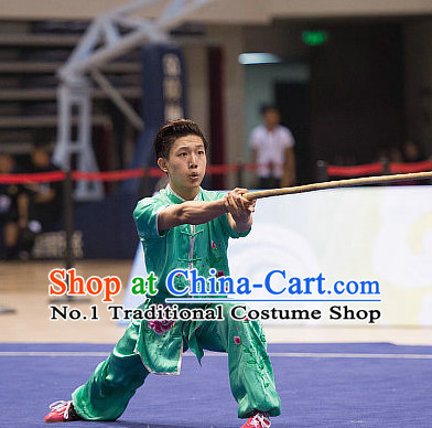 Top Embroidered Dragon Kung Fu Stick Competition Uniforms Kungfu Training Suit Kung Fu Clothing Kung Fu Movies Costumes Wing Chun Costume Shaolin Martial Arts Clothes for Men