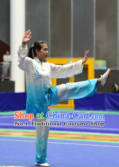 Top Colour Transition Tai Chi Taijiquan Aikido Chikung Tichi Quigong Chigong Thaichi Pants Tai Chi Fan Tai Chi Quan Onitsuka Tiger Tai Chi Competition Costumes Uniforms