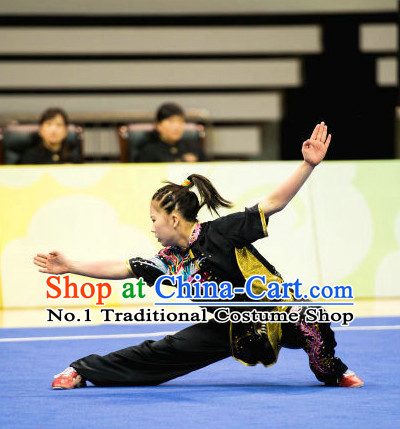 Top Chinese Martial Arts Competition Uniform Kung Fu Suit Gongfu Uniforms for Women