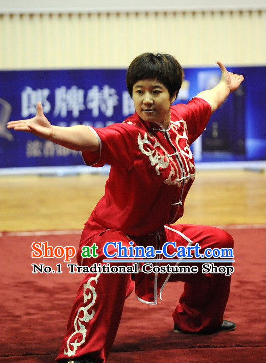Top Chinese Kung Fu Uniform Martial Arts Uniforms Kungfu Suits Competition Costumes Complete Set