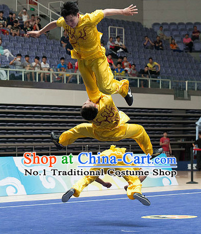 Top Chinese Southern Fist Kung Fu Uniform Martial Arts Uniforms Kungfu Suits Competition Costumes Complete Set