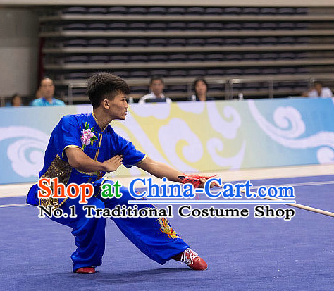 Top Martial Arts Competition Uniform Kung Fu Suit Eagle Fist Mantis Fist Boxing Monkey Fist Gongfu Costumes Complete Set for Men