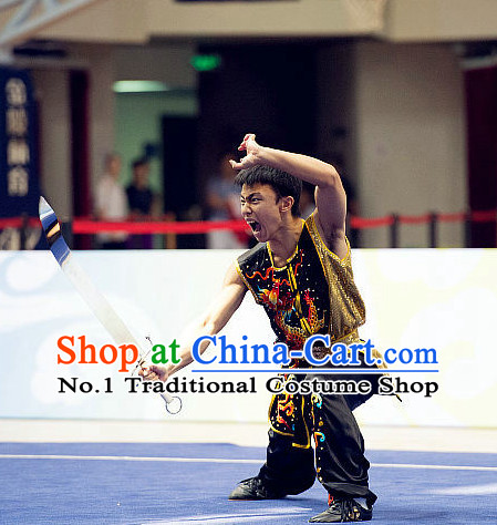 Top Eagle Fist Mantis Fist Boxing Monkey Fist Gongfu Costumes Complete Set for Men