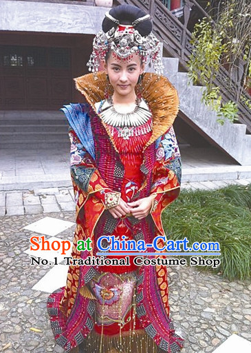 Chinese Ancient Pantaloon Female Warrior General High Collar Fighting Costumes Complete Set for Women