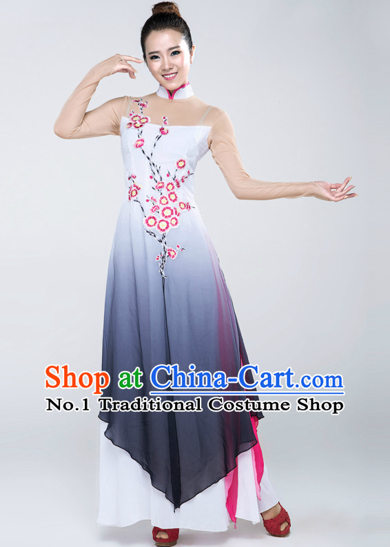 Plum Blossom Chinese Classical Dance Costumes for Competition