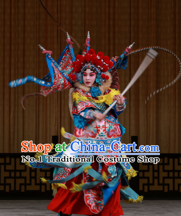 Chinese Culture Chinese Opera Costumes Chinese Cantonese Opera Beijing Opera Costumes Heroine Wu Tan Armor Costumes