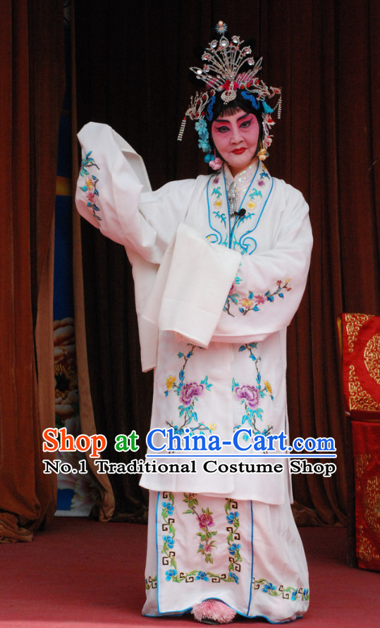 Chinese Beijing Opera Peking Opera Hua Dan Costumes and Hair Accessories Complete Set for Women