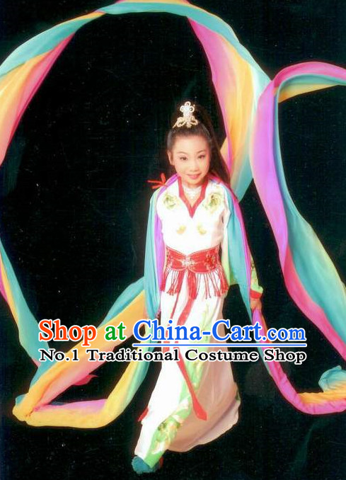 Asian Fashion China Traditional Chinese Dress Ancient Chinese Clothing Chinese Traditional Wear Chinese Opera Water Sleeve Costumes for Children