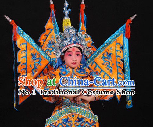 Asian Fashion China Traditional Chinese Dress Ancient Chinese Clothing Chinese Traditional Wear Chinese Opera Armor Wu Sheng Costumes for Child