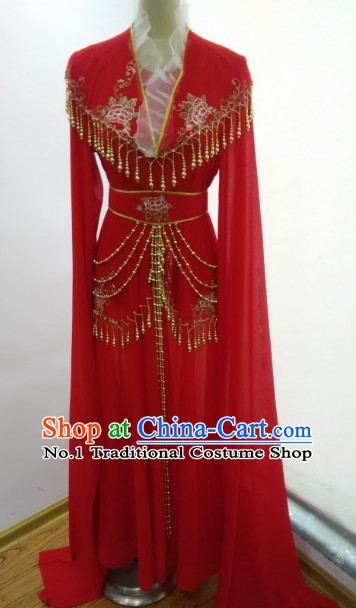 Asian Chinese Traditional Dress Theatrical Costumes Ancient Chinese Clothing Water Sleeve Classical Dancing Costumes for Women