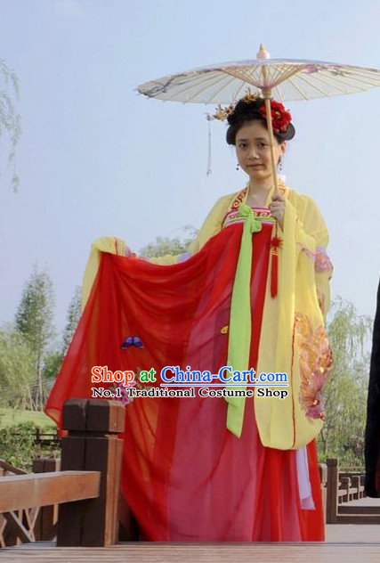 Chinese Traditional Hanfu Dress for Ladies
