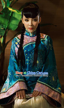 Tradiitonal Chinese Minguo Blouse and Skirt Complete Set for Women