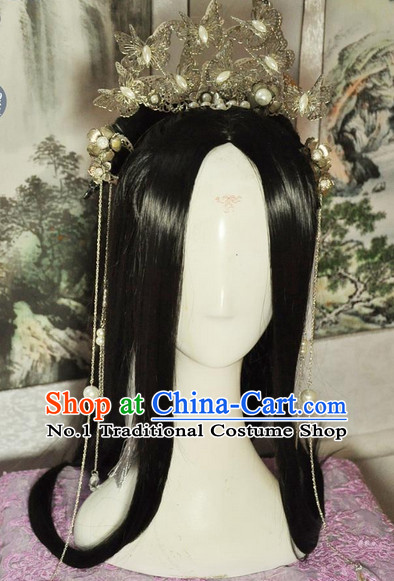 Chinese Traditional Handmade Princess Hair Accessories and China Wig Style