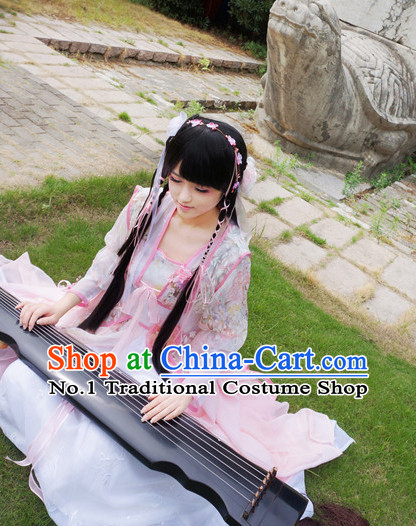 Traditional Chinese Princess Hair Accessories and Costumes Complete Set