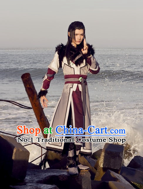 Asia Fashion Top Chinese Superhero Cosplay Halloween Costumes Complete Set for Men