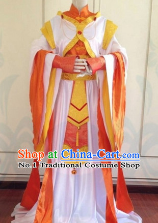 Chinese Hanfu Cosplay Costumes Complete Set for Girls