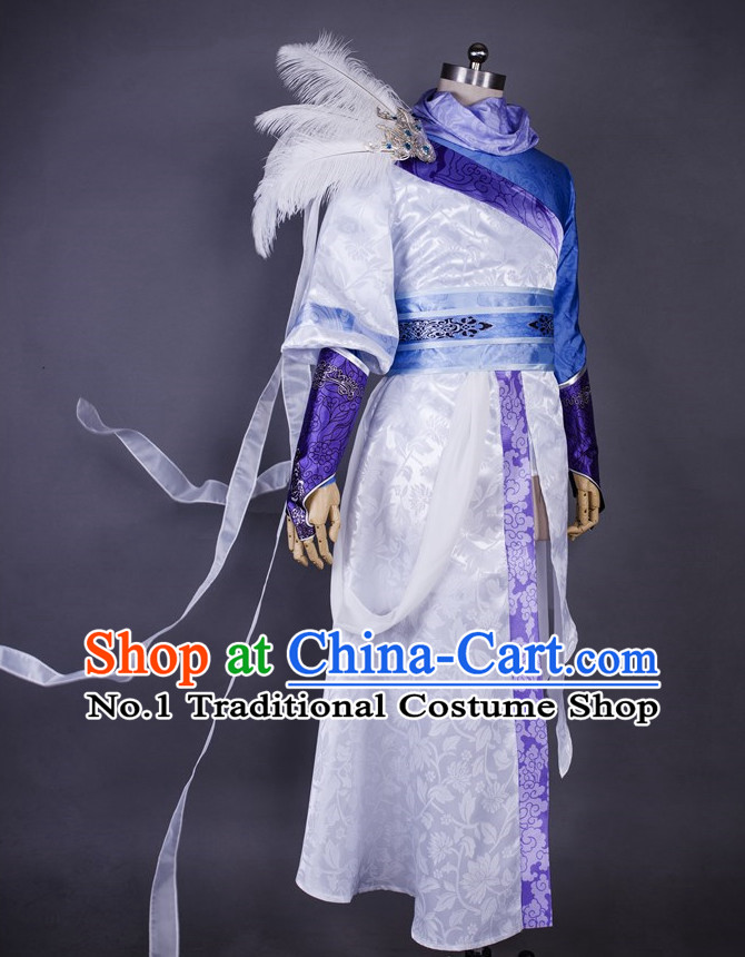 Asia Fashion Chinese Wu Xia Swordsman Play Cosplay Costumes Halloween Costume for Men & Chinese Halloween Costumes for Ancient Chinese Swordsmen