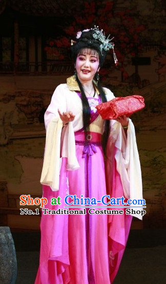 Asian Chinese Traditional Dress Theatrical Costumes Ancient Chinese Clothing Wife Costumes and Hair Accessories