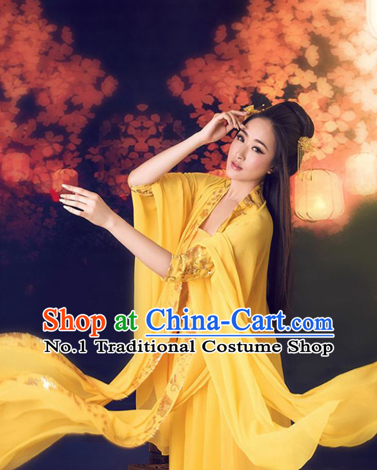 Chinese Traditional Queen Halloween Costumes and Hair Accessories Complete Set for Women