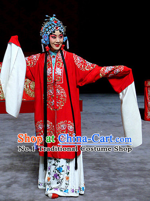 Ancient Chinese Beijing Opera Hua Dan Hua Tan Long Water Sleeves Robe Costumes for Women