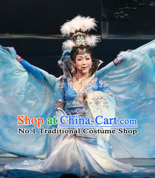 Ancient Chinese Queen Costumes andd Hair Accessories Complete Set