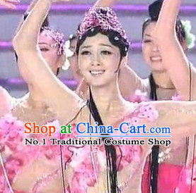 Ancient Chinese Palace Beauty Dancewear and Hair Accessories Complete Set