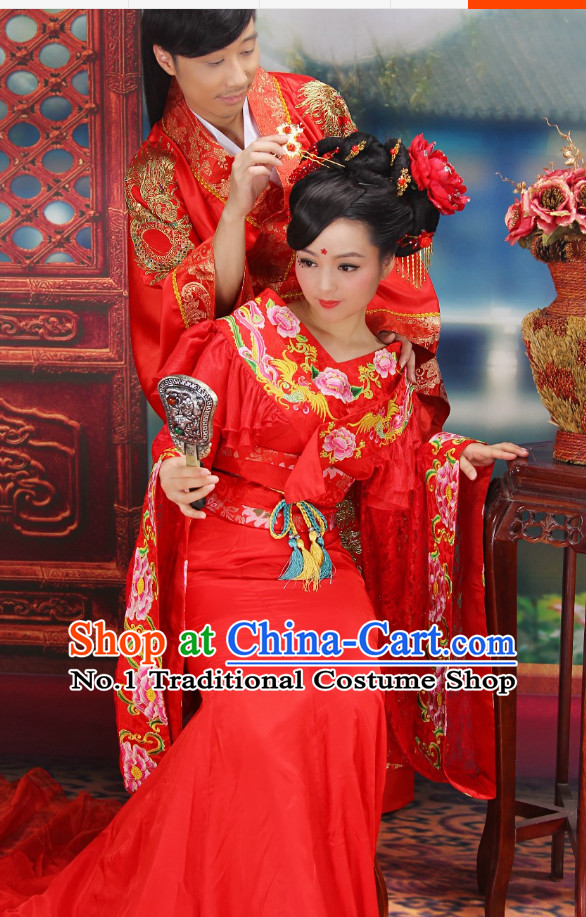 Top Chinese Wedding Dress Bridal Costumes Hanfu Attire for Women