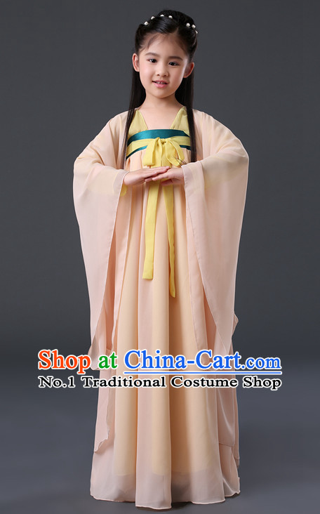 Chinese Hanfu Asian Fashion Japanese Fashion Plus Size Dresses Traditional Clothing Asian Hanfu Skirt for Kids