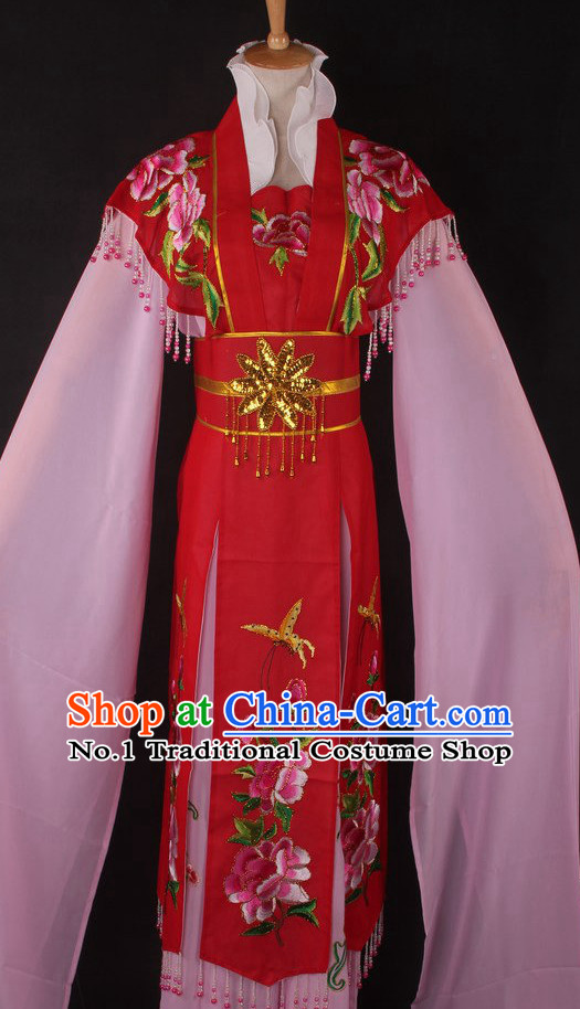 Chinese Traditional Dress Oriental Clothing Theatrical Costumes Opera Costume Long Sleeves Lady Dresses