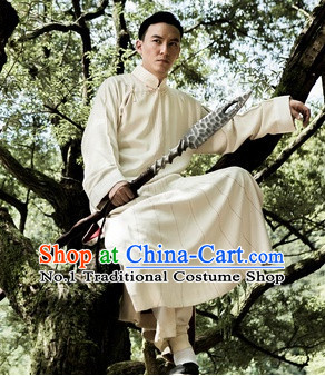 Traditional Chinese Kungfu Long Robe Complete Set for Men
