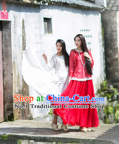 Red Oriental Clothing Asian Fashion Chinese Traditional Clothing Shopping online Clothes China online Shop Mandarin Dress Complete Set for Women