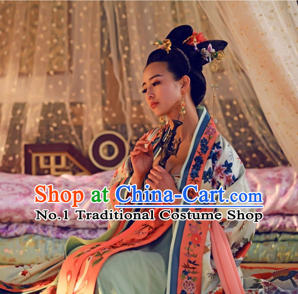 Handmade Chinese Empress Royal Imperial Wigs and Hair Accessories