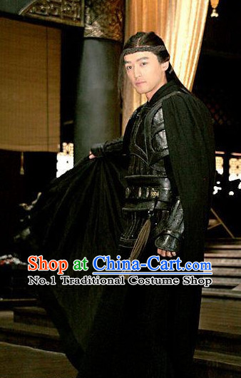 Traditional Chinese Ancient Warrior Costumes Complete Set for Men