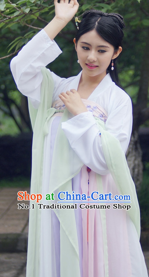 Ancient Chinese Tang Palace Lady Costumes Complete Set for Women