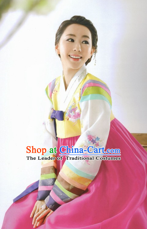 Korean Han Bok Suit Folk Clothing for Women