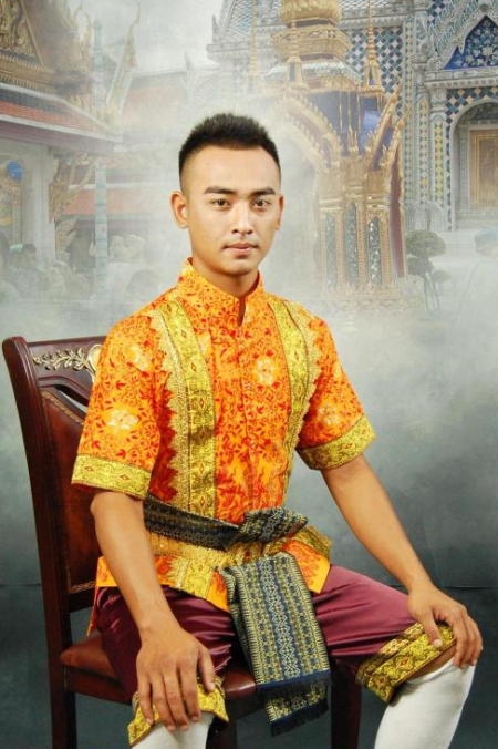 Thailand Traditional Wedding Dresses and Pants Complete Set for Men