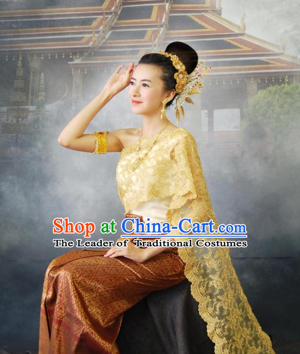 Traditional Thailand National Clothes for Women
