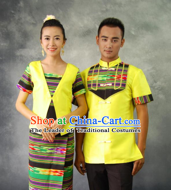 Thailand National Costumes 2 Sets for Men and Women