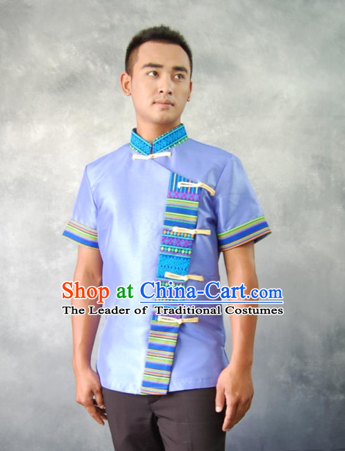 Thailand Traditional National Blouse for Men