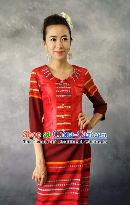 Thailand Traditional Uniforms Complete Set for Women