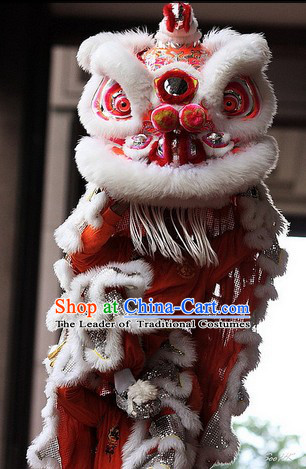100_ Natural Wool Hok San Lion Dance Equipment Complete Set
