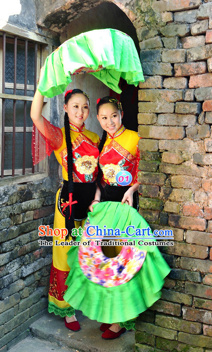 Traditional Chinese Hakka Female Folk Dance Clothes