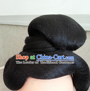 Tang Dynasty Chinese Traditional Hair extensions Wigs Fascinators Toupee Hair Pieces Full Wigs