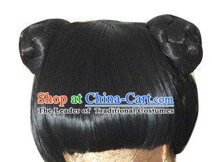 Ancient Chinese Traditional Hair extensions Wigs Fascinators Toupee Hair Pieces Full Wigs for Kids