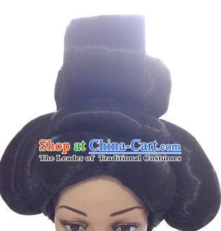 Chinese Ancient Tang Dynasty Queen Black Wigs