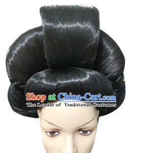 Chinese Classicial Queen Wig Hair Extensions Lace Front Wigs Hair Pieces for Women