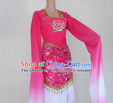 Water Sleeves Chinese Teenagers Classical Dance Costume for Competition