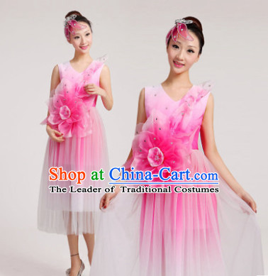 Chinese Flower Dance Costume Dancewear Discount Dane Supply Clubwear Dance Wear China Wholesale Dance Clothes for Women