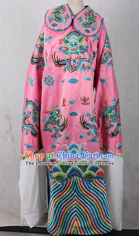 Embroidered Chinese Dragon Robe Opera Costumes Chinese Clothing Opera Mask Cantonese Opera Chinese Culture