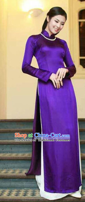 Vietnamese Traditional Party Dress Ao Dai for Women